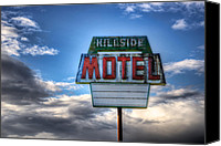 Spencer Mcdonald Canvas Prints - Hillside Motel Canvas Print by Spencer McDonald