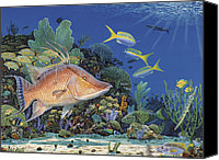 Grouper  Canvas Prints - Hog Heaven  Canvas Print by Carey Chen