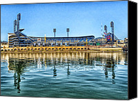 Mlb Photo Canvas Prints - Home of the Pirates Canvas Print by Mountain Dreams