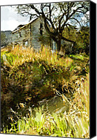 Corel Painter Canvas Prints - Home of Yesteryear Canvas Print by Dale Stillman