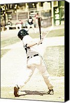 Homerun Canvas Prints - HomeRun Hitter Canvas Print by Karol  Livote