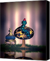 Weed Canvas Prints - Hookah and the magic mushroom Canvas Print by Bob Orsillo