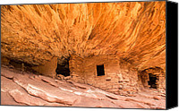 Utah Canvas Prints - House on Fire ruins Utah Canvas Print by Pierre Leclerc