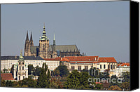 Prague Castle Canvas Prints - Hradcany - Cathedral of St Vitus on the Prague castle Canvas Print by Michal Boubin