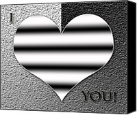 Georgeta Blanaru Canvas Prints - I Love You digital painting Canvas Print by Georgeta Blanaru