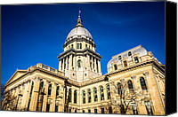 Landmarks Canvas Prints - Illinois State Capitol Building in Springfield Canvas Print by Paul Velgos