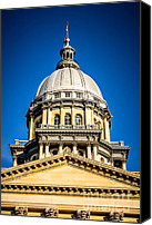 Landmarks Canvas Prints - Illinois State Capitol Dome in Springfield Illinois Canvas Print by Paul Velgos