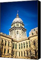Landmarks Canvas Prints - Illinois State Capitol in Springfield Illinois Canvas Print by Paul Velgos