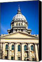 Landmarks Canvas Prints - Illinois State Capitol in Springfield Canvas Print by Paul Velgos