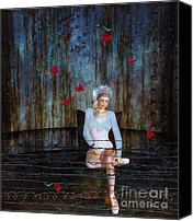 Ballet Art Special Promotions - Imprisoned Canvas Print by Jutta Maria Pusl