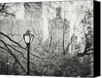 Lamppost Canvas Prints - In the Shadow of the Upper East Side Canvas Print by Lisa Russo