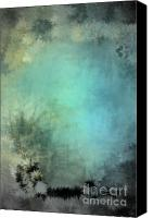 Holley Jacobs Canvas Prints - In The Stars Teal Canvas Print by Holley Jacobs