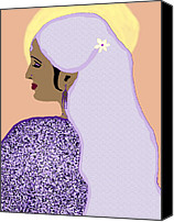 Kate Farrant Canvas Prints - Indian Bride 5 Canvas Print by Kate Farrant