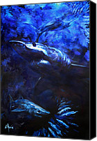 Guy Harvey Canvas Prints - Inky Waters Canvas Print by Tom Dauria
