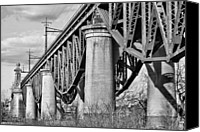 Harlem River Canvas Prints - Inverted BW Canvas Print by JC Findley