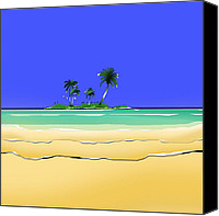 Landscapes Digital Art Special Promotions - Islands Canvas Print by Peter Stevenson