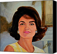 Camelot Canvas Prints - Jackie Kennedy Onassis Canvas Print by Shirl Theis