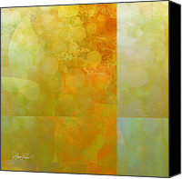 Ann Powell Canvas Prints - Jade and Carnelian abstract art  Canvas Print by Ann Powell