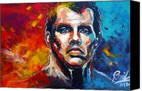 Legend  Painting Special Promotions - Jamie Carragher Canvas Print by Ramil Roscom Guerra