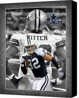 Dallas Cowboys Canvas Prints - Jason Witten Cowboys Canvas Print by Joe Hamilton
