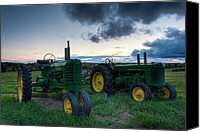 Matt Dobson Canvas Prints - John Deere Green Canvas Print by Matt Dobson