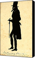Padre Art Canvas Prints - John Randolph Silhouette 1830 Canvas Print by Padre Art