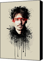 Celebrity Special Promotions - Johnny Depp Canvas Print by Movie Prints