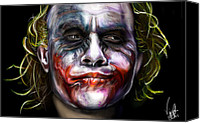 Dark Knight Canvas Prints - Joker Canvas Print by Vinny John