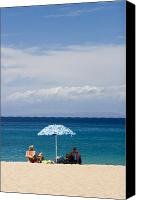 Hawaiian Islands Canvas Prints - Kaanapali Beach in Maui Canvas Print by David Smith