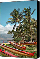 Hawaii Beach Art Canvas Prints - Kihei Maui Hawaii Canvas Print by Sharon Mau