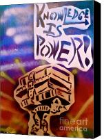 Conservative Painting Canvas Prints - Knowledge Is Power 1 Canvas Print by Tony B Conscious