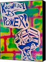 Conservative Painting Canvas Prints - Knowledge Is Power 2 Canvas Print by Tony B Conscious