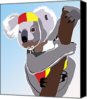 Kate Farrant Canvas Prints - Koala Lifeguard Canvas Print by Kate Farrant