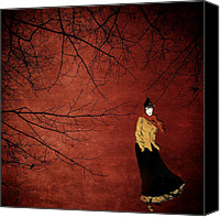 Buffet Digital Art Canvas Prints - La Dame des Bois Canvas Print by Natasha Marco