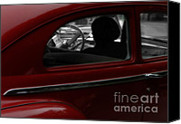 Classic Automobiles Canvas Prints - Lady in Red Canvas Print by Steven  Digman