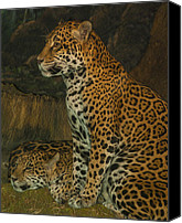 Jack Zulli Canvas Prints - Leo and Friend Canvas Print by Jack Zulli