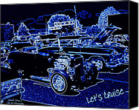 Display Cars Canvas Prints - Lets Cruise Canvas Print by Bobbee Rickard
