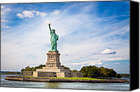 Nyc Canvas Prints - Liberty Enlightening The World Canvas Print by Mark E Tisdale