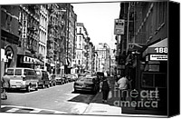 John Rizzuto Canvas Prints - Little Italy 1990s Canvas Print by John Rizzuto