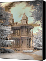 "\\\""haunted House\\\\\\\"" Canvas Prints - Littlefield mansion Canvas Print by Jane Linders"