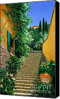 Lago Di Como Canvas Prints - Lofty Hights Canvas Print by Michael Swanson