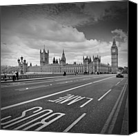 Old Houses Canvas Prints - London - Houses of Parliament  Canvas Print by Melanie Viola