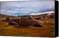 Rusted Cars Canvas Prints - Long Forgotten Canvas Print by Garry Gay