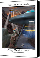 Ufo Canvas Prints - Lost Film Number 5 Canvas Print by Mike McGlothlen