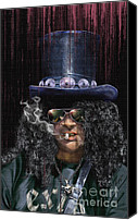 Slash Canvas Prints - Mad As A Hatter - Slash Canvas Print by Reggie Duffie