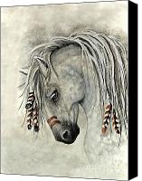 Buckskin Canvas Prints - Majestic Mustang 30 Canvas Print by AmyLyn Bihrle