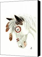 Buckskin Canvas Prints - Majestic Mustang 41 Canvas Print by AmyLyn Bihrle