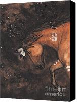 Paint Horse Canvas Prints - Majestic Mustang Series 40 Canvas Print by AmyLyn Bihrle