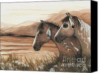 Buckskin Canvas Prints - Majestic Mustang Series 42 Canvas Print by AmyLyn Bihrle