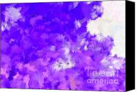 Holley Jacobs Canvas Prints - Make Me Want It Purple Canvas Print by Holley Jacobs